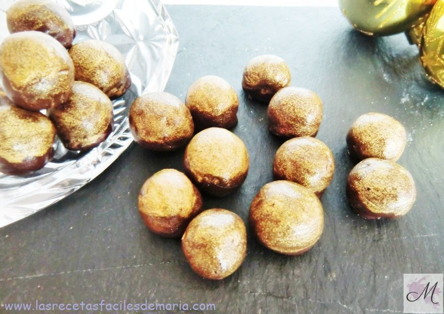 receta Bombones dorados de Chocolate con Avellanas