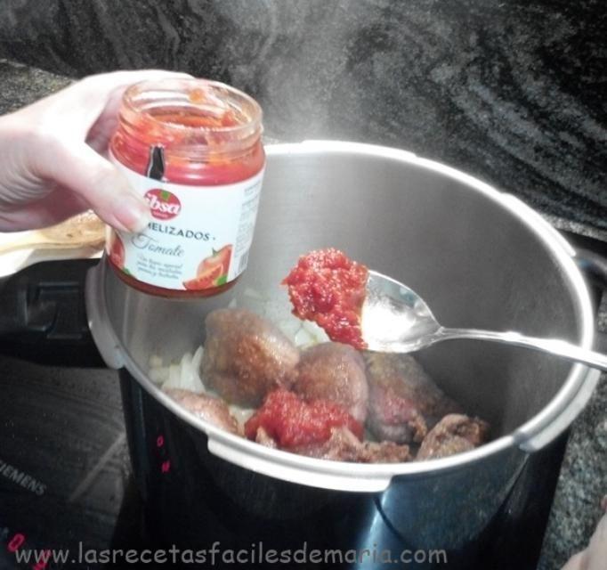 carrilleras caramelizas con tomate paso 1-1
