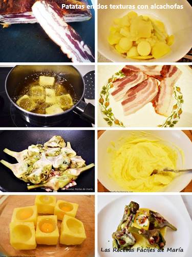 patatas en dos texturas con alcachofas receta paso paso