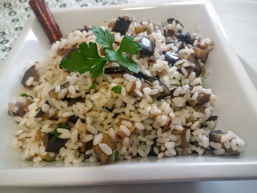 Arroz especiado con berenjenas La Cocina de Pedro y Yolanda en recetas de arroces fáciles y rápidas