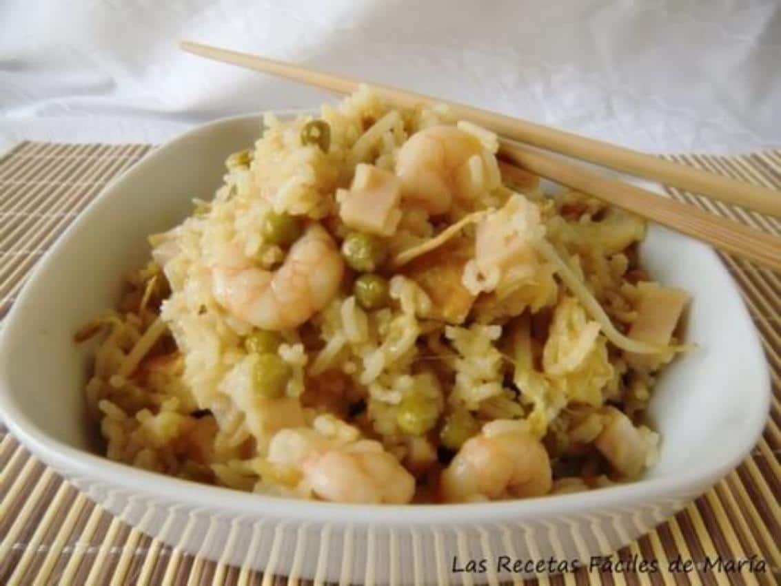 Arroz chino con soja fresca Las Recetas Fáciles de María recetas de arroces fáciles y rápidas