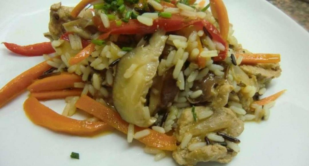 Solomillo con setas Shiitake y toque asiático recetas de arroces fáciles y rápidas