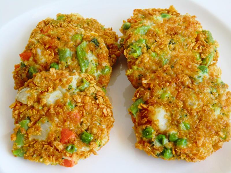 Tortitas de Verduras y Pollo Crujientes sin Gluten)