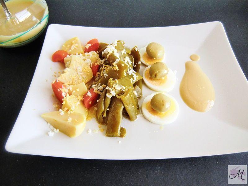 Ensalada Fácil de Judías Verdes y Salsa de Yogur Koikochu