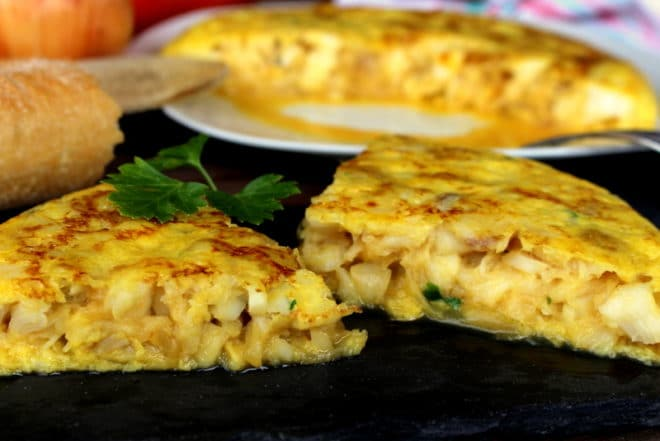 Tortilla de Bacalao y Cebolla Carameliza La Cocina de Masito Comidas rápidas con pescado para niños