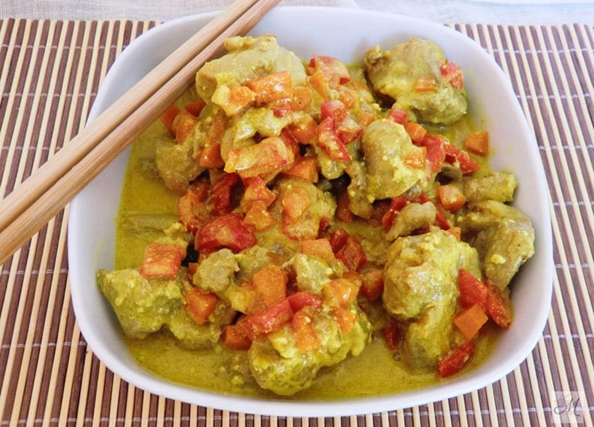 Pollo indio al curry tikka masala sin lactosa presentación