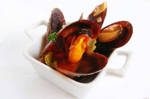 Mejillones con fritada riojana receta de cocina