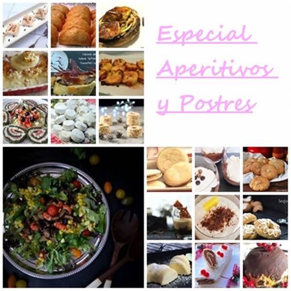 especial aperitivos y postres recopilación de recetas de cocina