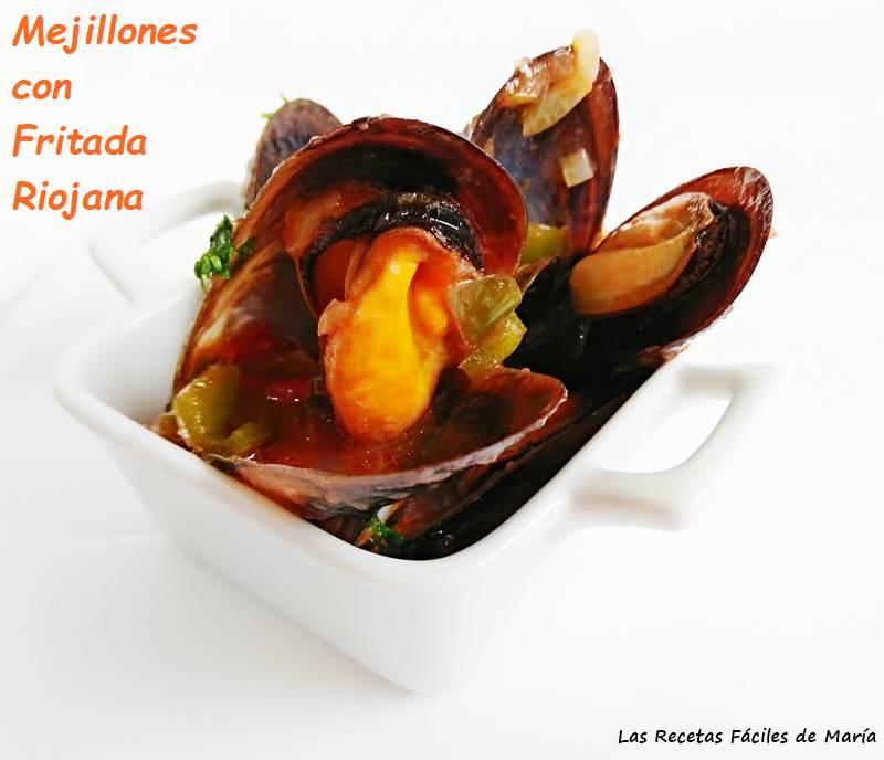 mejillones con fritada riojana para picar