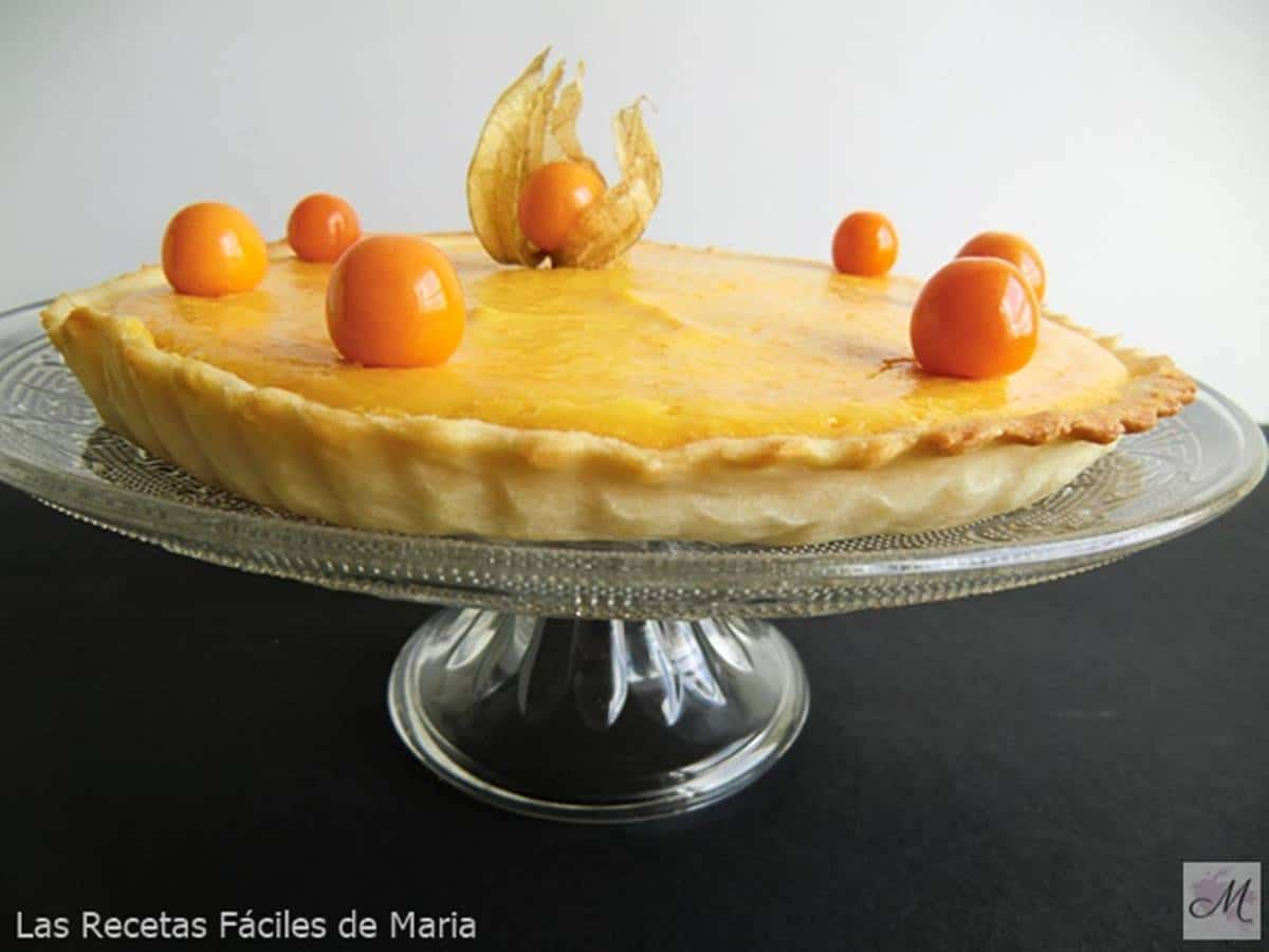 tarta de physalis y mandarinas receta de postre