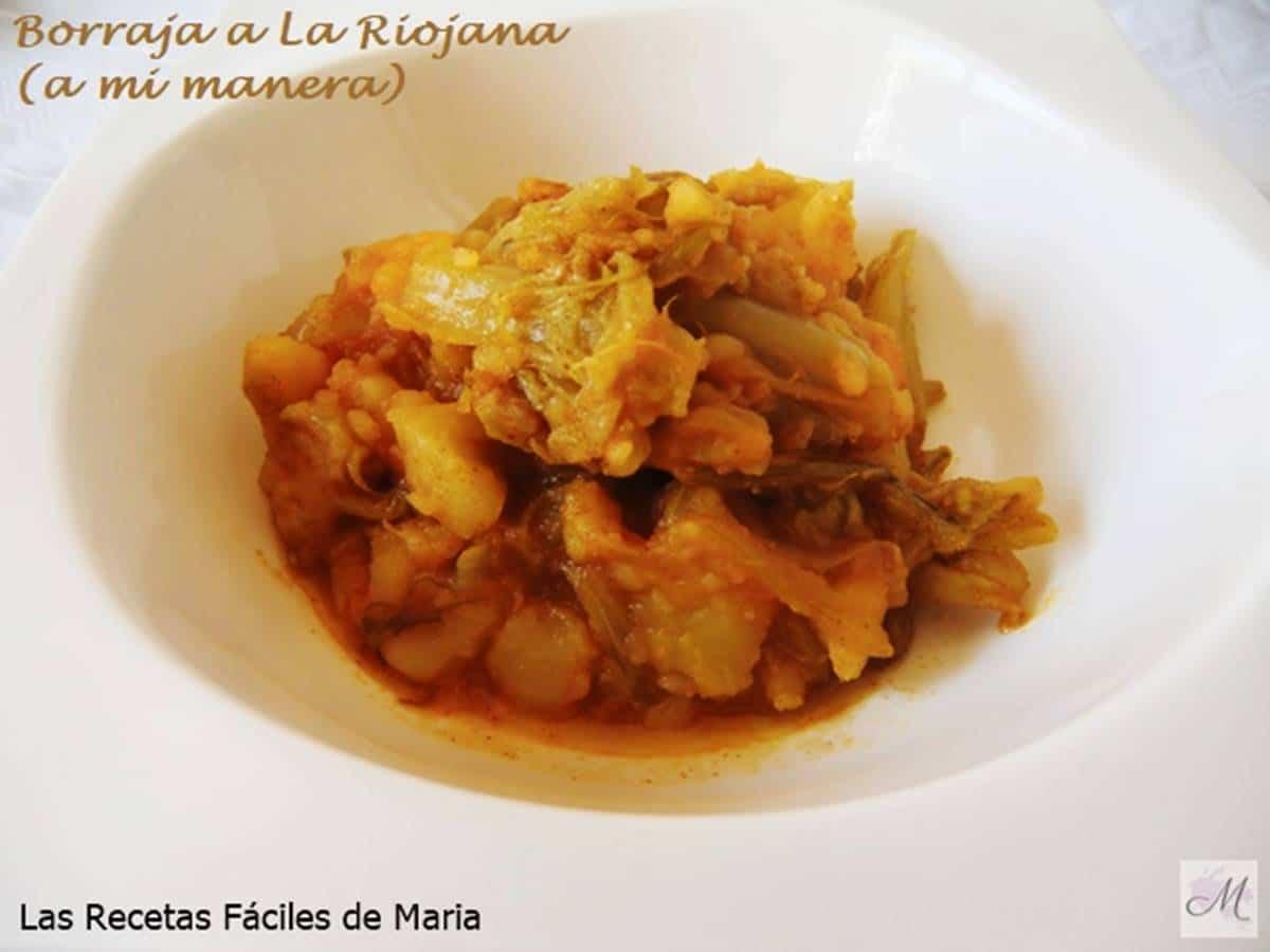 Borraja a La Riojana receta de cocina