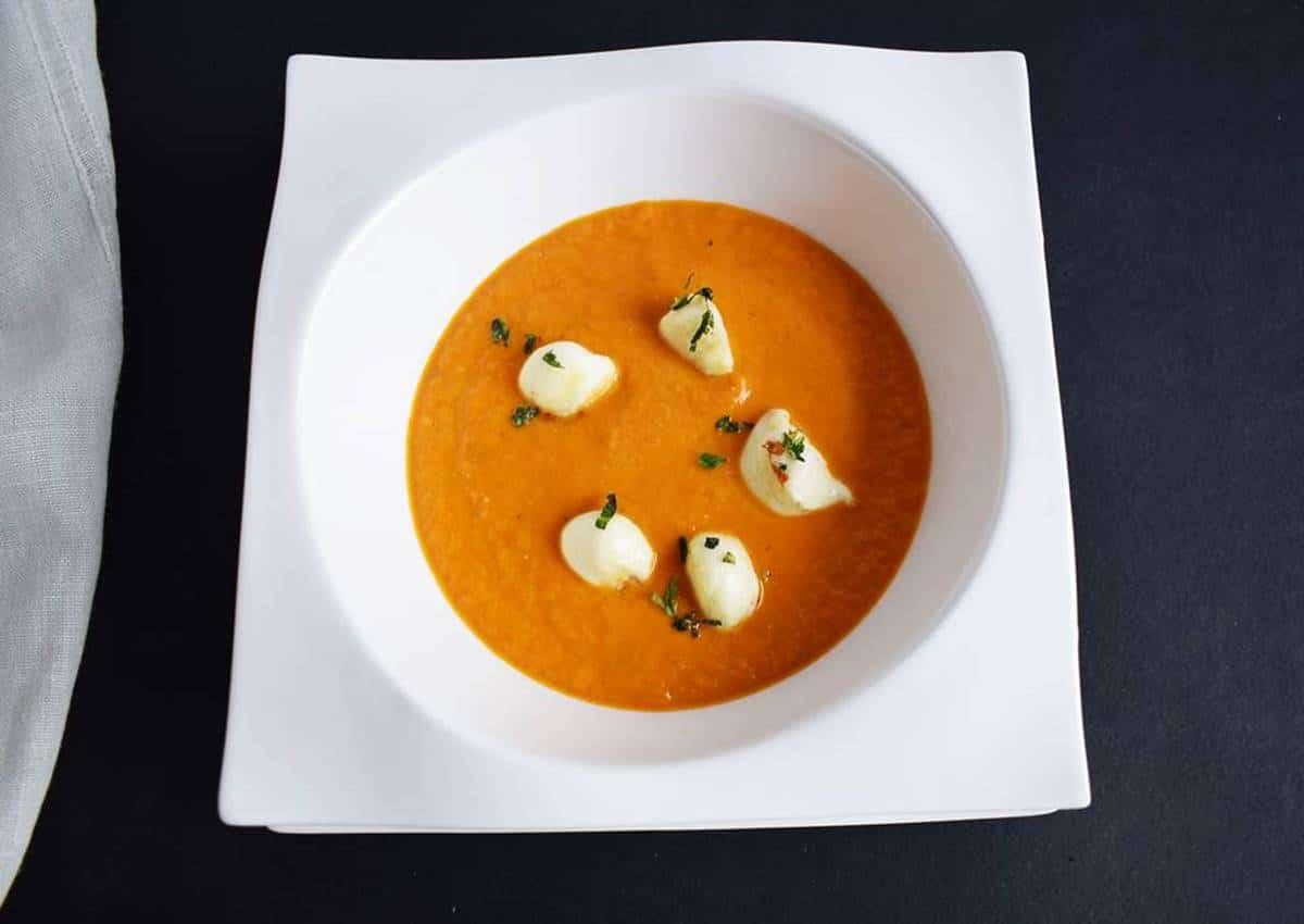 Sopa de Tomate Cremosa Las Recetas Fáciles de María