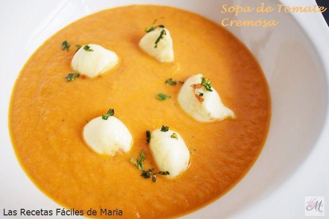 Sopa de Tomate Cremosa receta