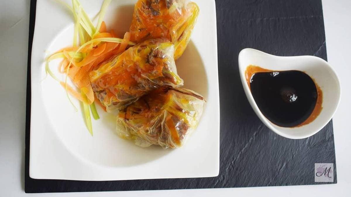 Rollitos de Cordero a Baja Temperatura receta de cocina de vanguardía