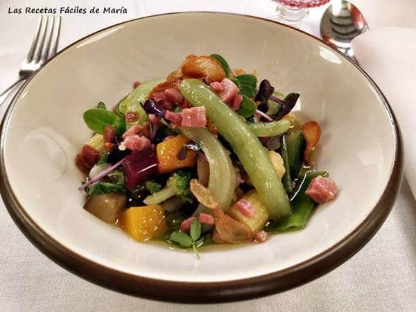verduras del mercado con ajo y jamón menús saludables la cocina de ramón