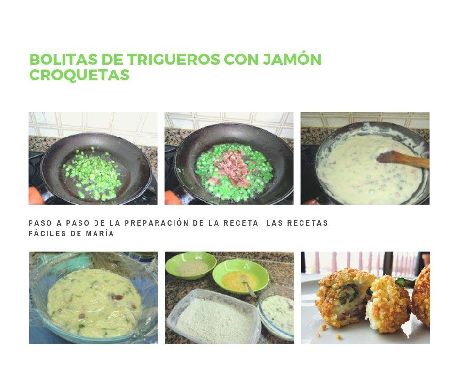 Bolitas de Trigueros con Jamón Croquetas