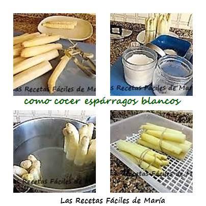 Cómo cocer Espárragos Blancos para Dieta Disociada