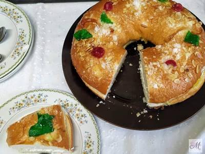 Roscón de Reyes Casero presentación