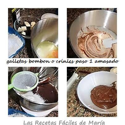 galletas bombon o crinkles como se hacen paso 1 masa