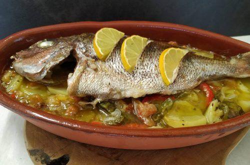 Pargo a la Roteña receta Gaditana
