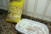 Palitos de Pollo con polvo de cheetos gusanitos paso 2