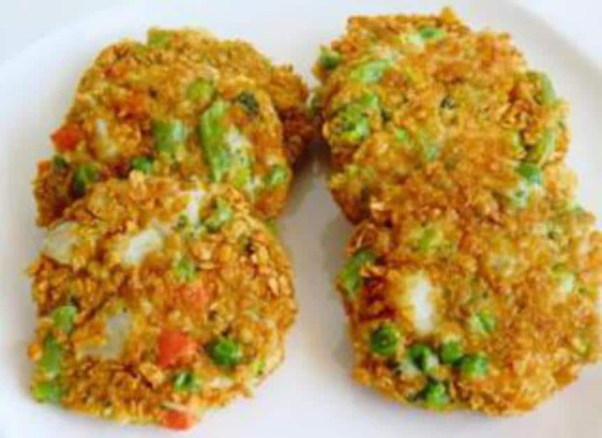 Tortitas Crujientes de Verduras con Pollo sin Gluten