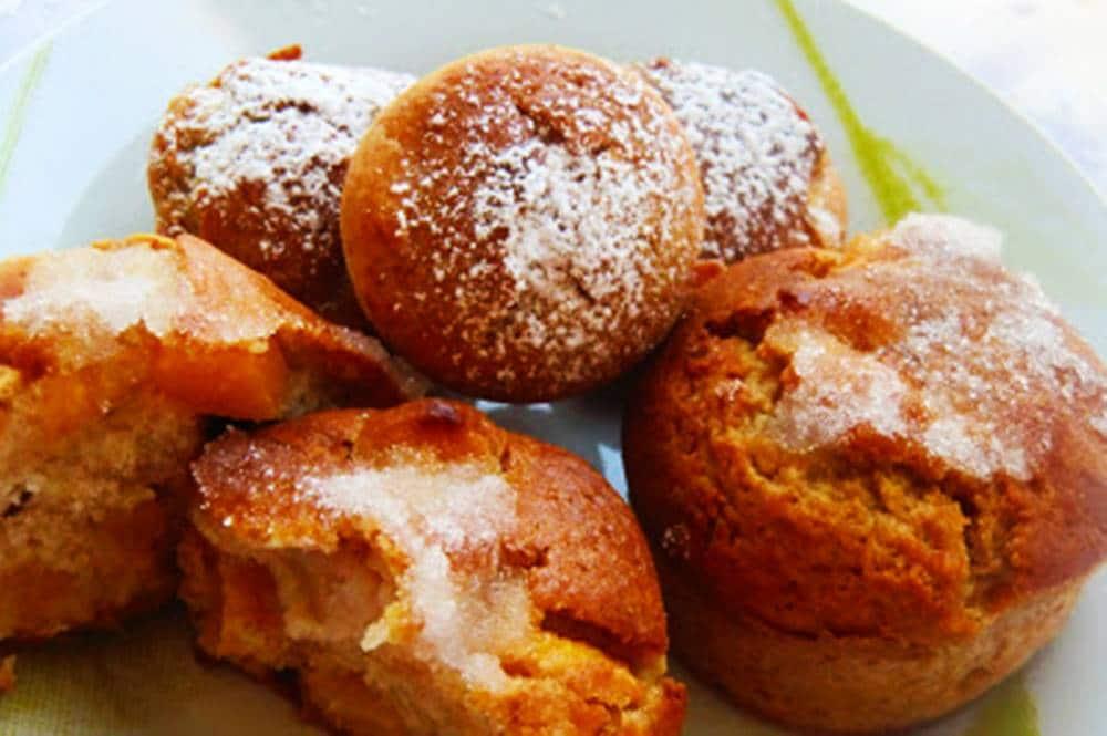 muffins de melocotón con aroma de manzana 2