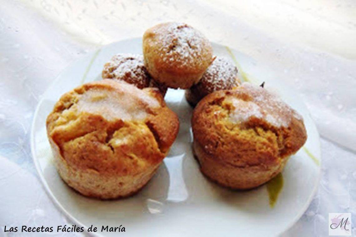 muffins de melocotón con aroma de manzana