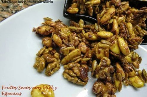 Frutos Secos con Miel,Curry, Jengibre y Canela