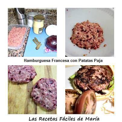 cómo se hace hamburguesa francesa con patatas paja