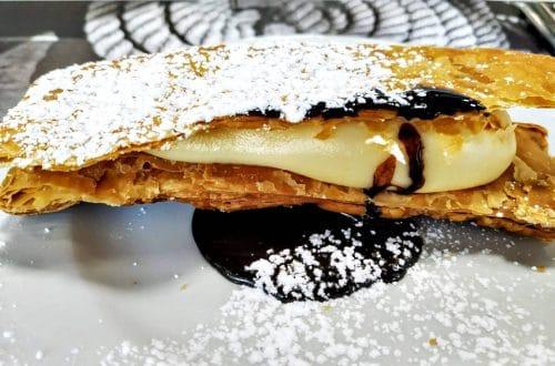 Milhojas Crujiente de Crema y Chocolate la tentación