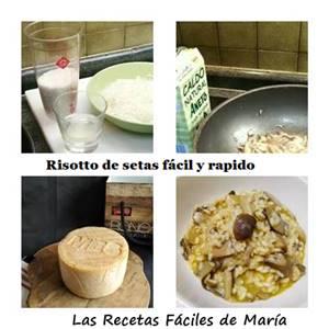 ingredientes para risotto de setas fácil y rápido