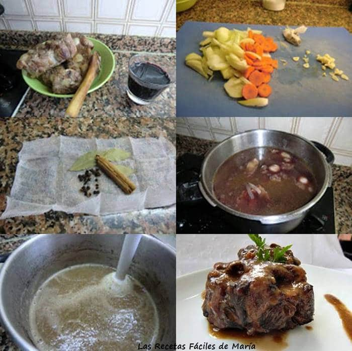 receta de rabo de toro al vino tinto con canela