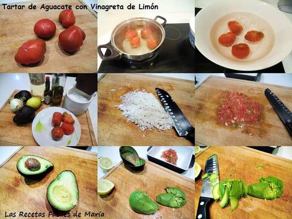 como hacer tartar de aguacate con vinagreta de limón receta paso a paso