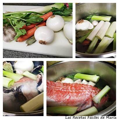 Cómo hacer fumet de pescado con cabra y merluza