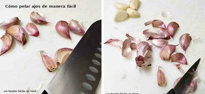 Cómo pelar ajos fácilmente