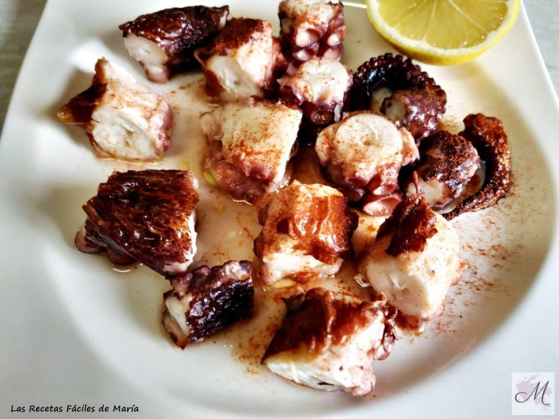 pulpo al horno o pulpo a la Murciana receta tradicional