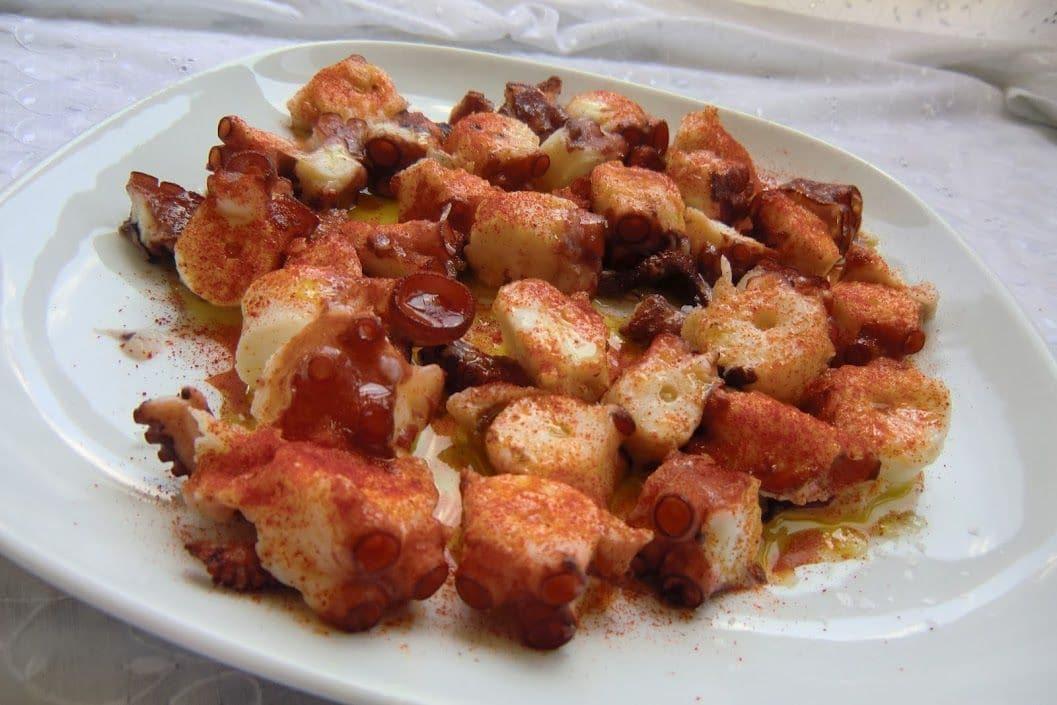pulpo a feira receta tradicional presentación
